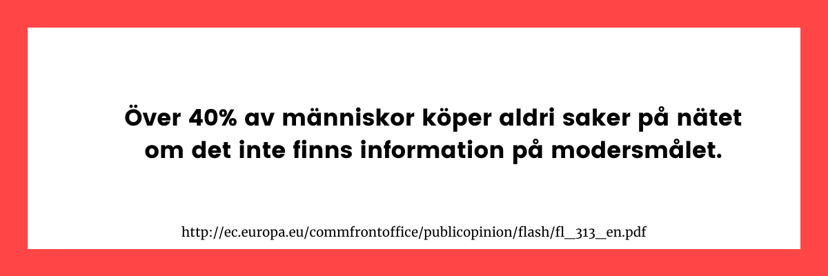 översättning av svensk webbsida viktig för konvertering
