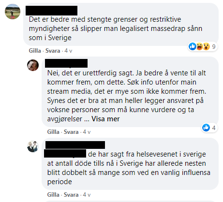 eksperter corona norge sverige